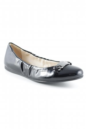 Prada Lackballerinas schwarz-silberfarben Business-Look