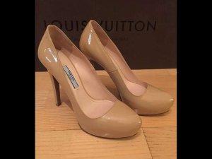 PRADA Lackleder High Heels Nude/ Beige Gr. 36