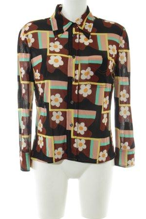 Prada Langarm-Bluse Blumenmuster Casual-Look
