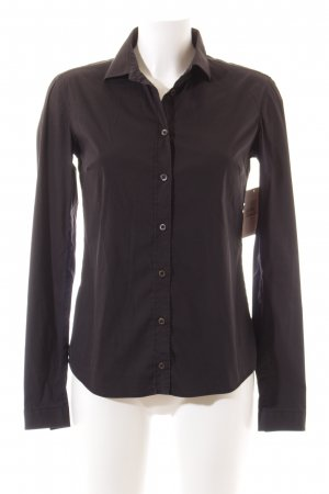 Prada Langarm-Bluse schwarz Business-Look
