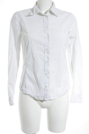 Prada Langarm-Bluse weiß