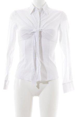Prada Langarm-Bluse weiß Business-Look