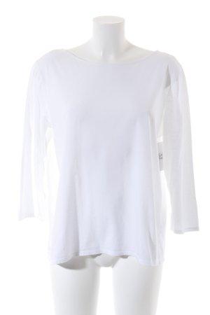 Prada Langarm-Bluse weiß Casual-Look
