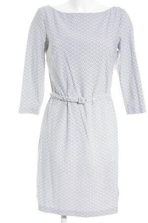 Prada Langarmkleid weiß-schwarz grafisches Muster Casual-Look