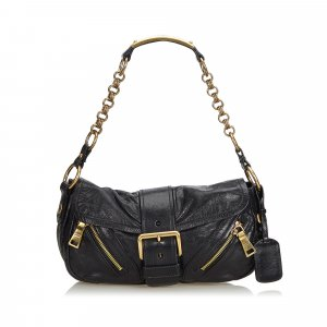 Prada Leather Baguette