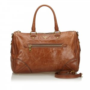 Prada Leather Boston Bag