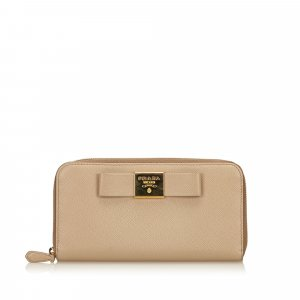 Prada Wallet beige leather