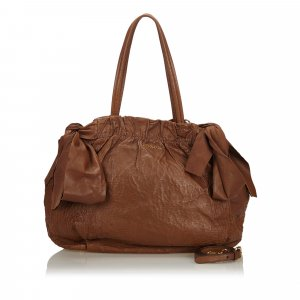 Prada Satchel brown leather