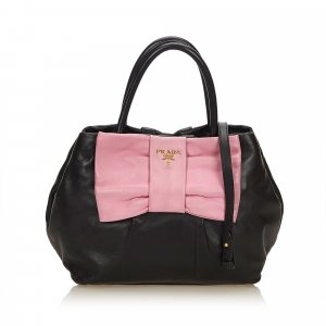 Prada Leather Bow Satchel