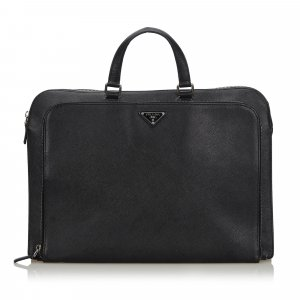 Prada Business Bag black leather