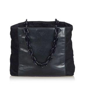 Prada Leather Chain Tote Bag