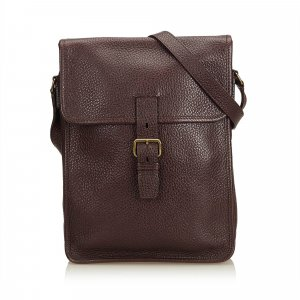 Prada Crossbody bag bordeaux leather