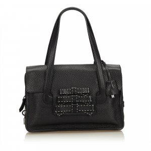 Prada Leather Flap Shoulder Bag