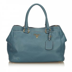 Prada Bolso azul claro Cuero
