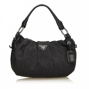 Prada Handbag black imitation leather