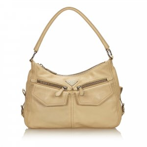 Prada Handbag beige leather