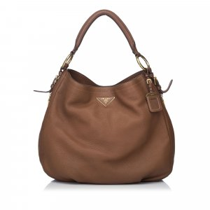 Prada Hobos brown leather