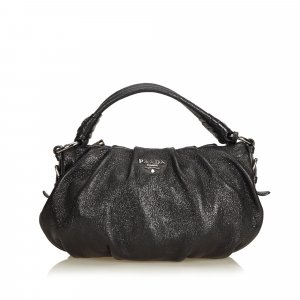 Prada Hobos black leather