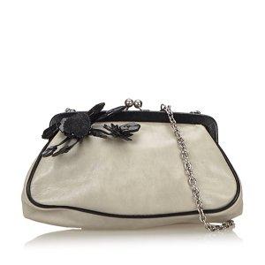 Prada Leather Kiss Lock Bag