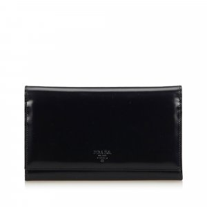 Prada Wallet black leather