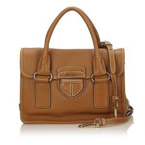 Prada Leather Pattina Handbag
