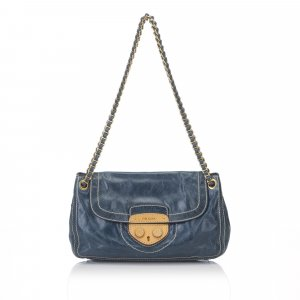 Prada Leather Pattina Shoulder Bag