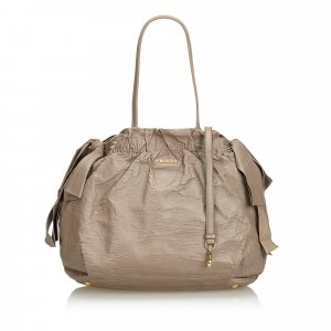Prada Leather Ribbon Shoulder Bag
