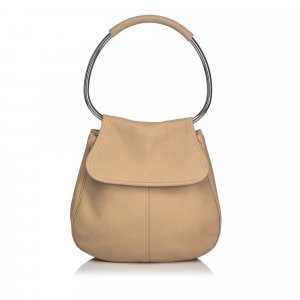 Prada Leather Ring Shoulder Bag