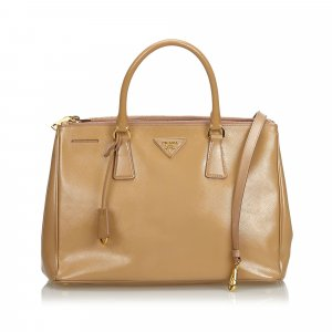 Prada Leather Saffiano Galleria Handbag