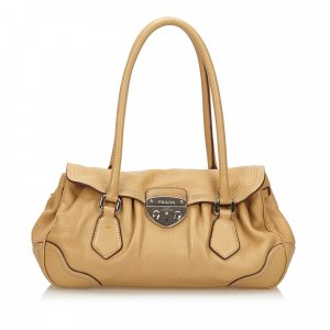 Prada Shoulder Bag brown leather