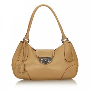 Prada Shoulder Bag beige leather
