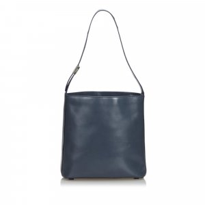 Prada Shoulder Bag blue leather