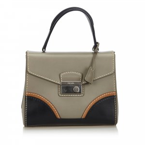 Prada Leather Sound Lock Handbag
