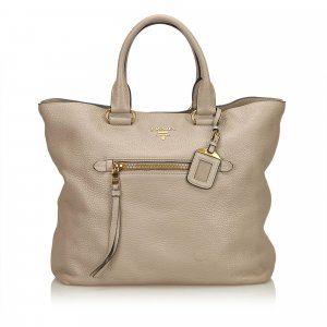 Prada Tote beige leather