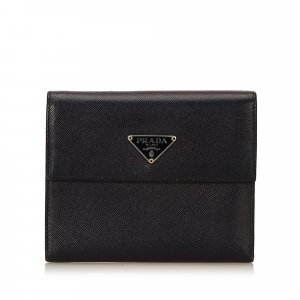 Prada Leather Trifold Small Wallet