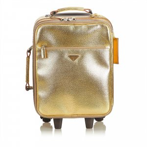 Prada Travel Bag gold-colored leather