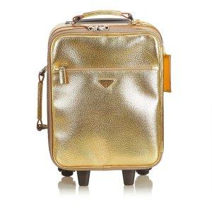 Prada Bolso de viaje color oro Cuero