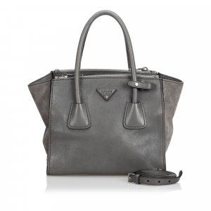 Prada Leather Twin Pocket Satchel