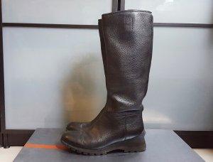 PRADA Leder Stiefel Boots Keilabsatz Profil 38 38,5 39 schwarz