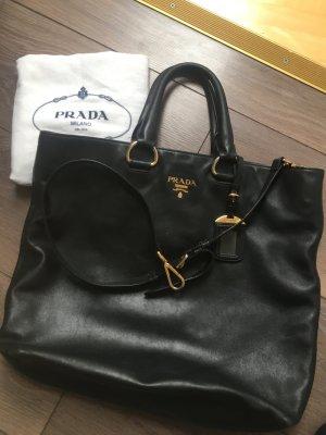 Prada Leder Tasche Vitello schwarz gold wie neu