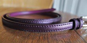 Prada Leather Belt brown violet leather