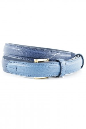 "Prada Leather Belt ""  Slim Saffiano Belt Cobalt Blue 75"""