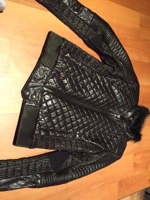 Prada Lederjacke schwarz mit Fell gr.38 neu