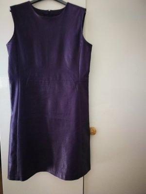 Prada Vestito in pelle viola scuro
