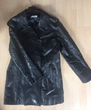 Prada Leather Coat black