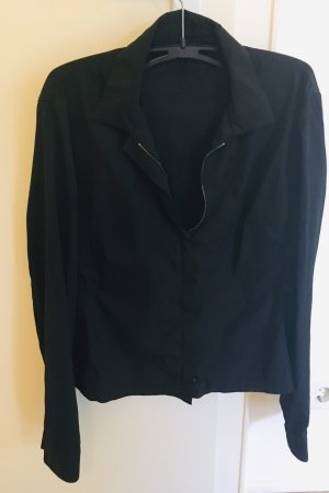 Prada Blouse Jacket black-dark red