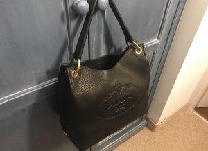 Prada Lerdertasche schwarz mit Gold gebraucht und Zertifikat