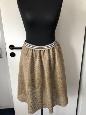 Prada Flared Skirt sand brown