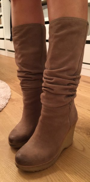 Prada Slouch Boots grey brown-light brown