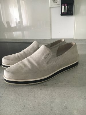 Prada Loafer in hellgrau